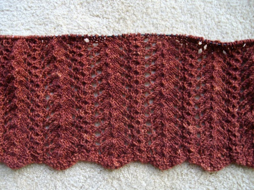 Pattern: Branch Blanket, by Cecily Glowik MacDonald. Yarn: Madelinetosh Pashmina in Saffron