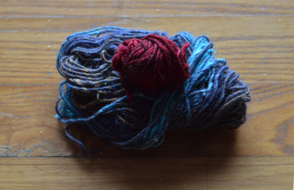 the yarn left behind