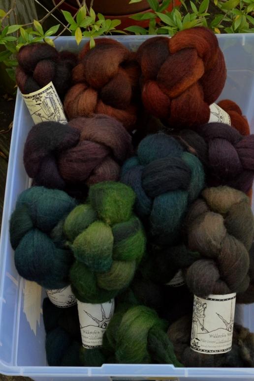 Widdershin shetland for TdF 14 blanket spin