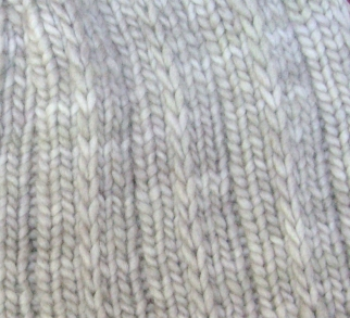 Stitch detail: Malabrigo Merino Worsted