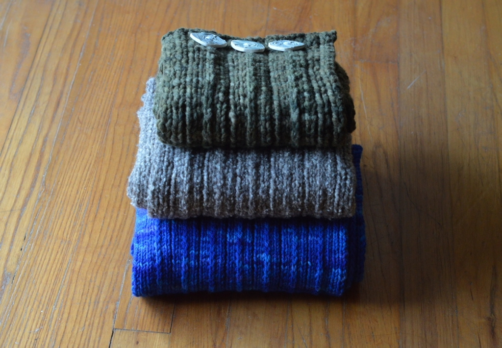 Backroad scarf samples stack