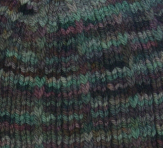 Stitch detail: Widdershin Woolworks Targhee Worsted