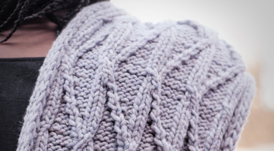 Meltwater Scarf detail | thecusserknits.com