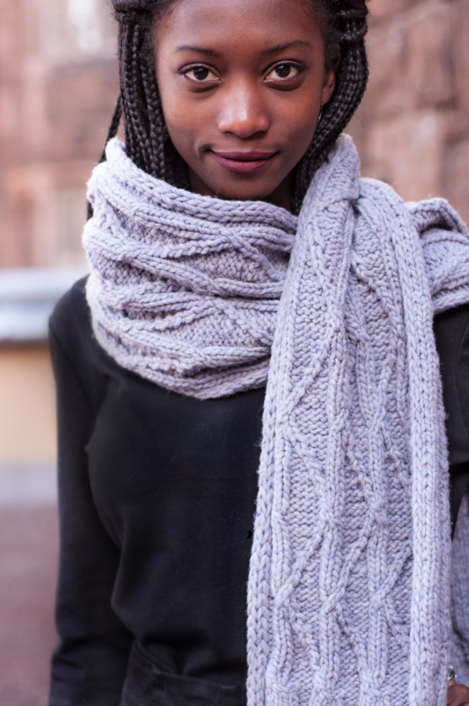 Meltwater Scarf 1 | thecusserknits.com