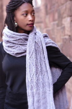 Meltwater Scarf 2 | thecusserknits.com