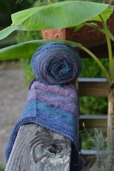 handspun shawl in progress