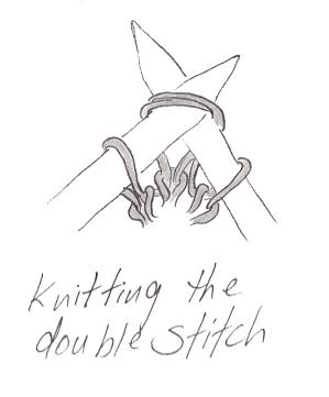 German Short Rows: Knitting the double stitch | E Elliott Knits