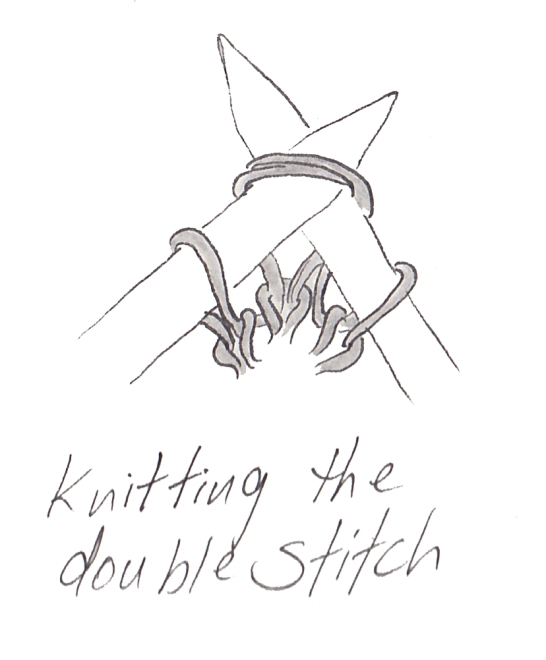 German Short Rows: Knitting the double stitch | E Elliott Knits
