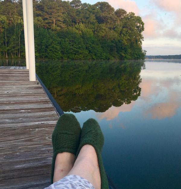 Last Minute Travel Slippers at the lake